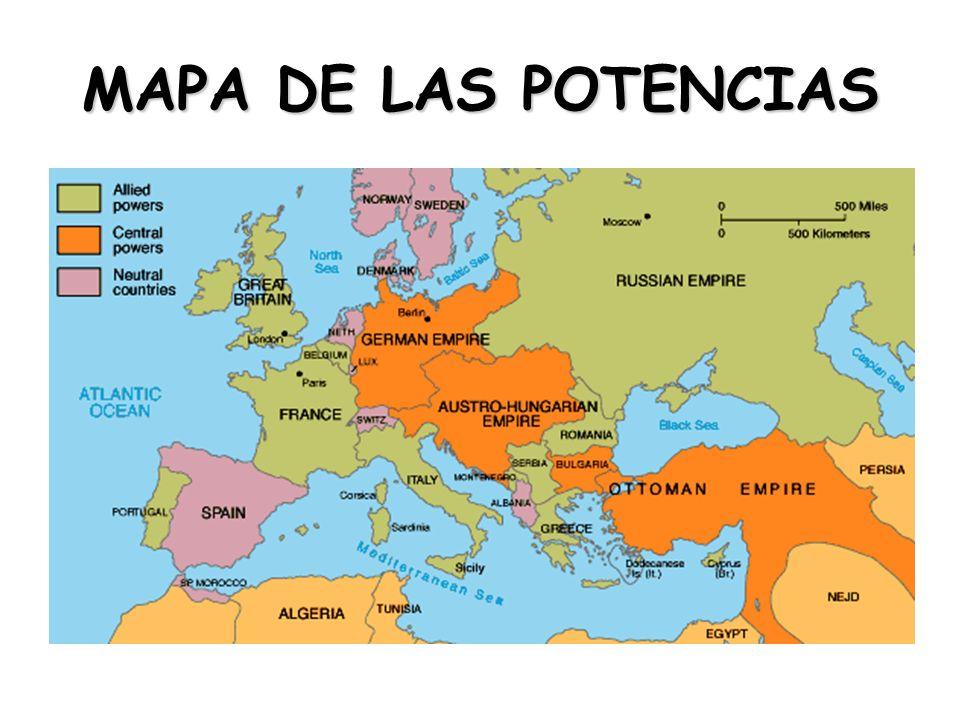 MAPA DE LAS POTENCIAS
