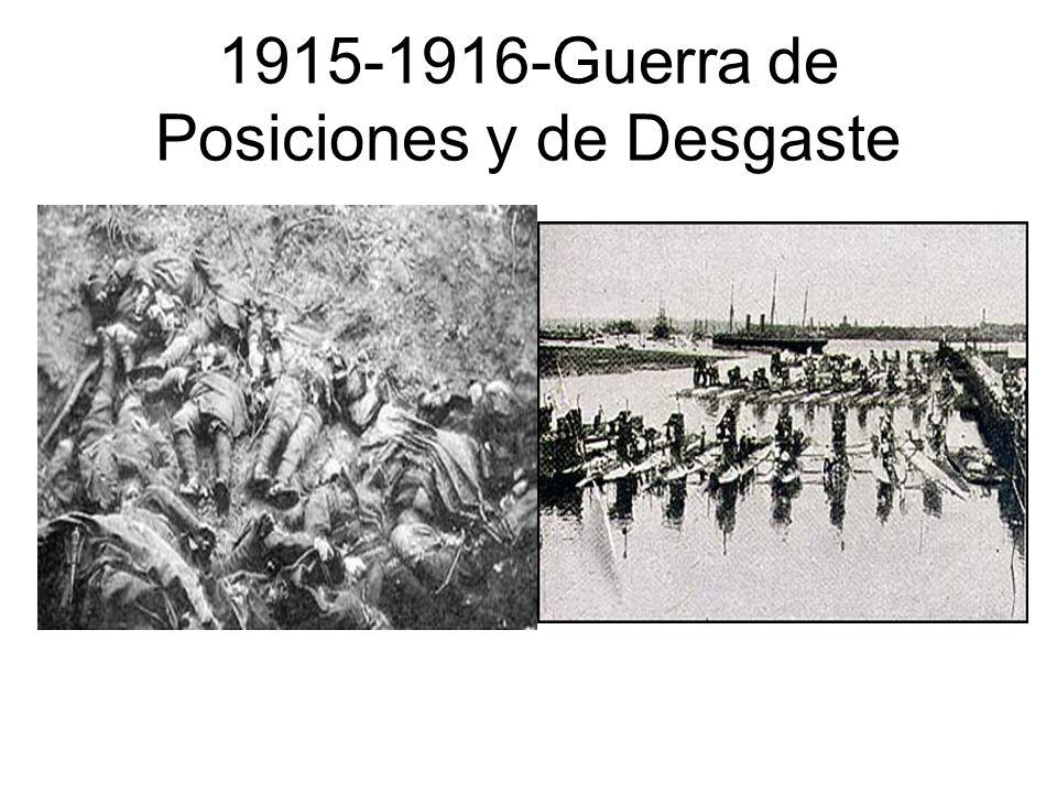 1915-1916-Guerra de Posiciones y de Desgaste