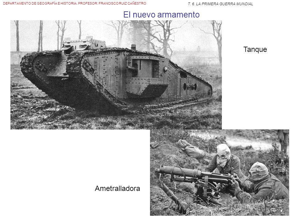 El nuevo armamento Tanque Ametralladora
