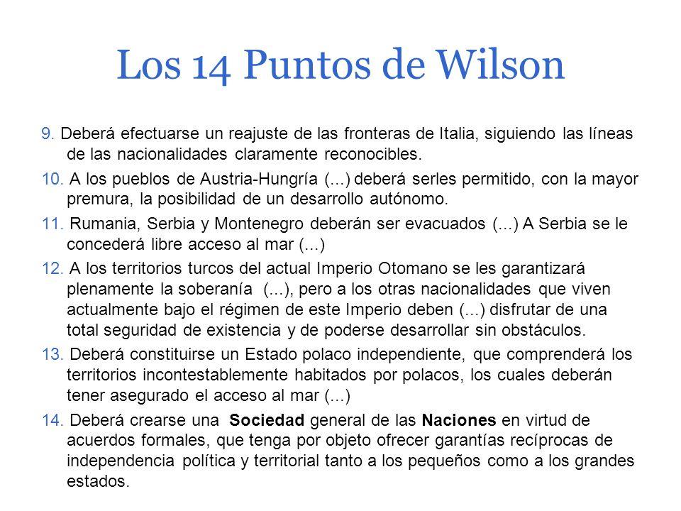 Los 14 Puntos de Wilson