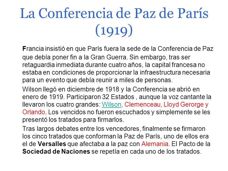 La Conferencia de Paz de París (1919)