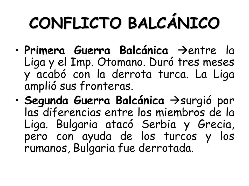 CONFLICTO BALCÁNICO
