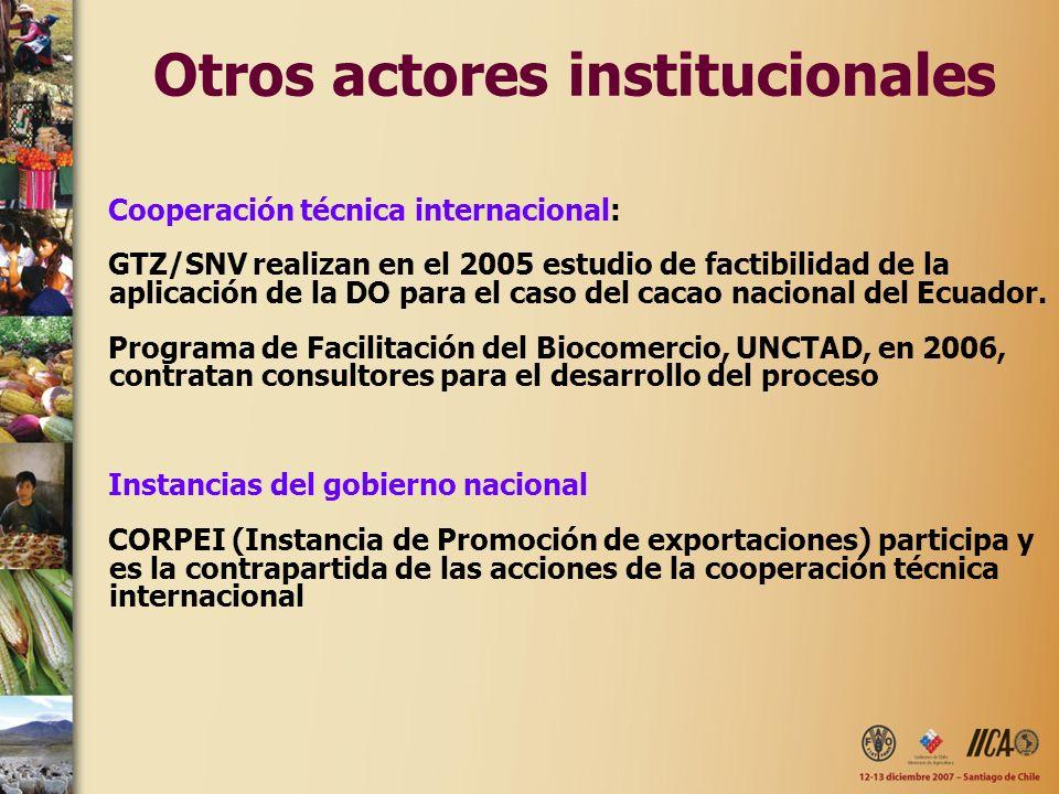 Otros actores institucionales