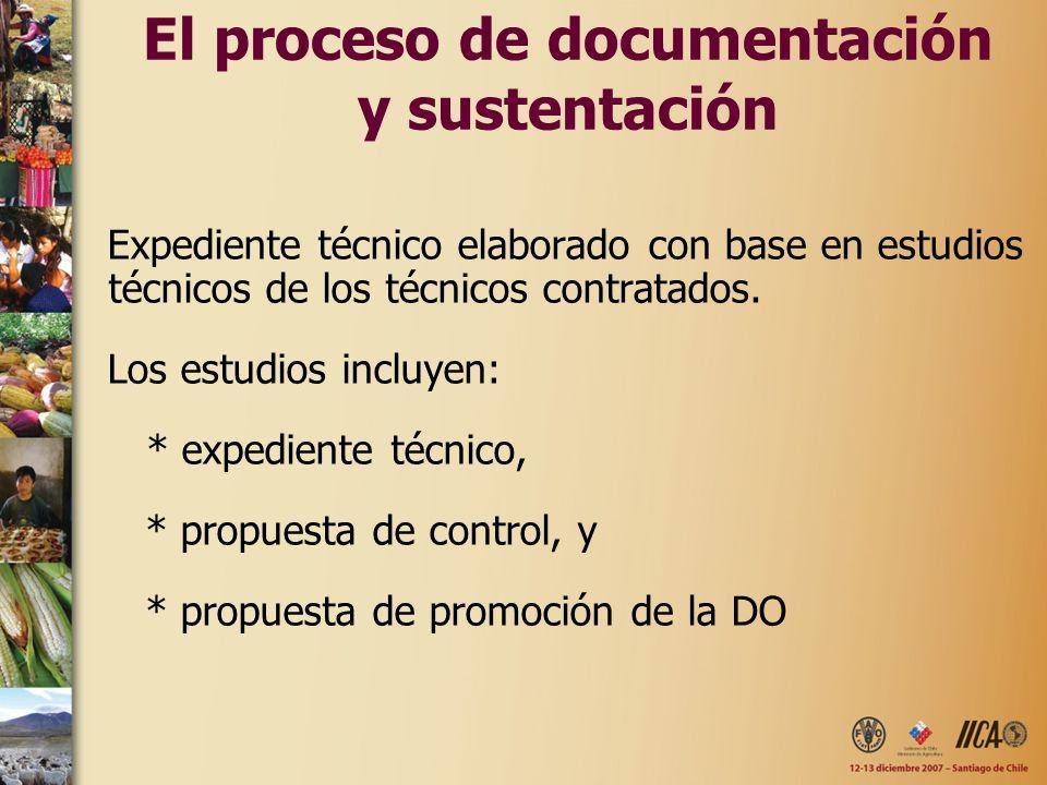 El proceso de documentación y sustentación