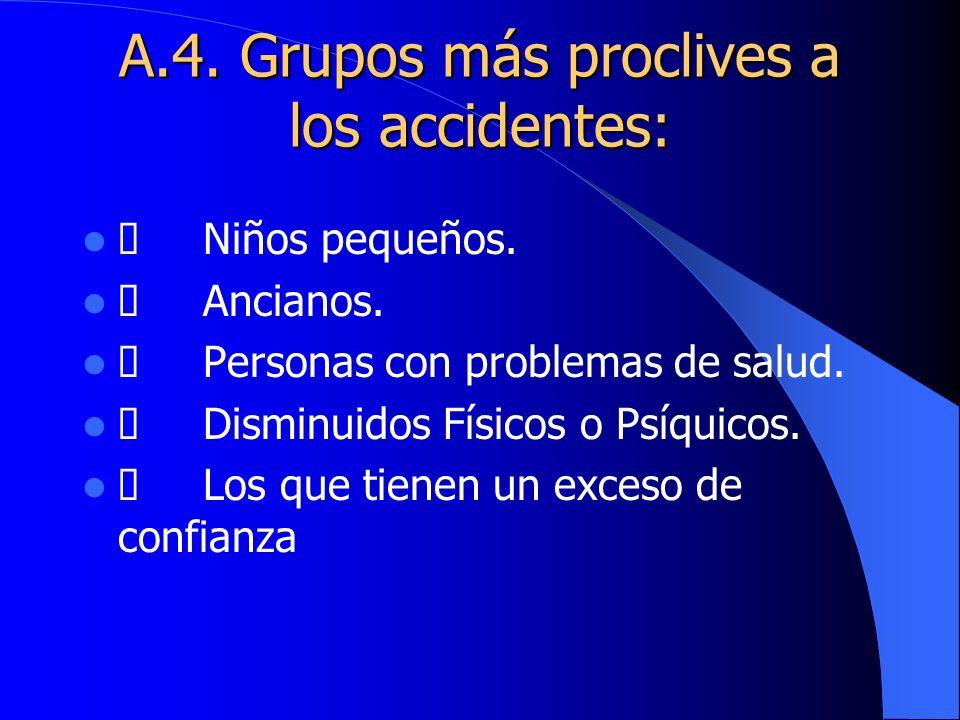 A.4. Grupos más proclives a los accidentes: