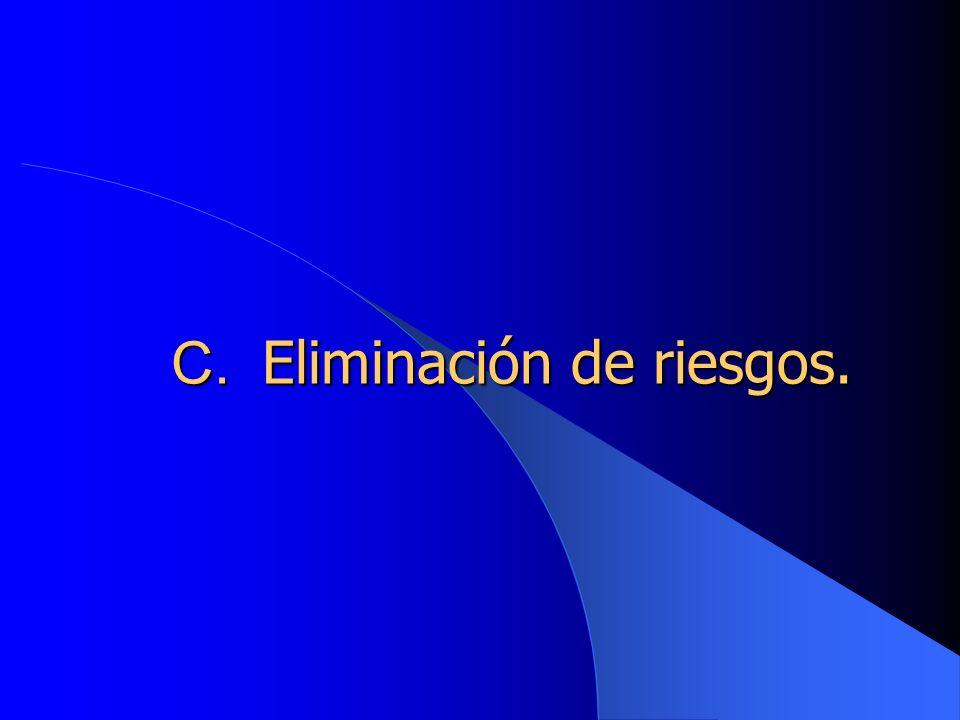 C. Eliminación de riesgos.