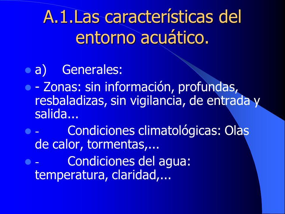 A.1.Las características del entorno acuático.