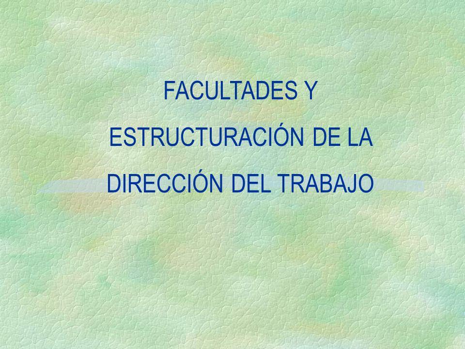 FACULTADES Y ESTRUCTURACIÓN DE LA DIRECCIÓN DEL TRABAJO