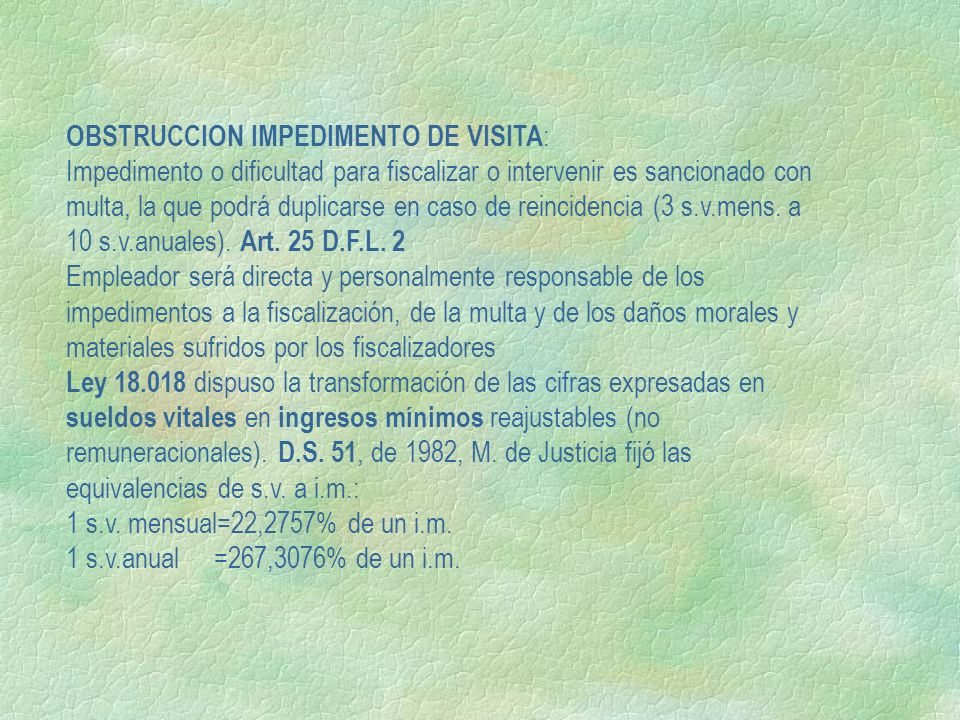 OBSTRUCCION IMPEDIMENTO DE VISITA: