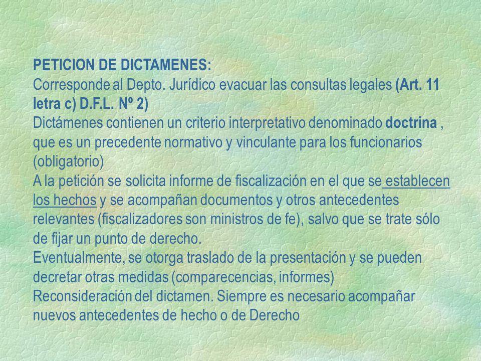 PETICION DE DICTAMENES: