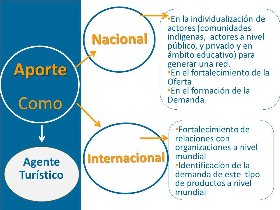 Aporte Como Nacional Internacional Agente Turístico
