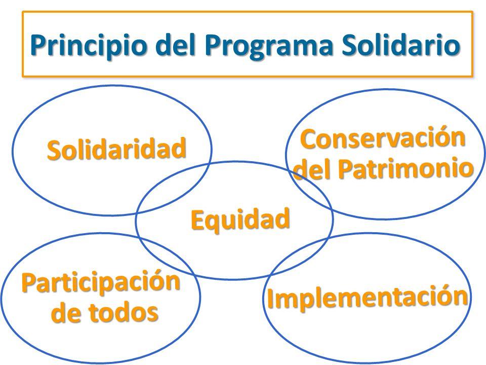 Principio del Programa Solidario