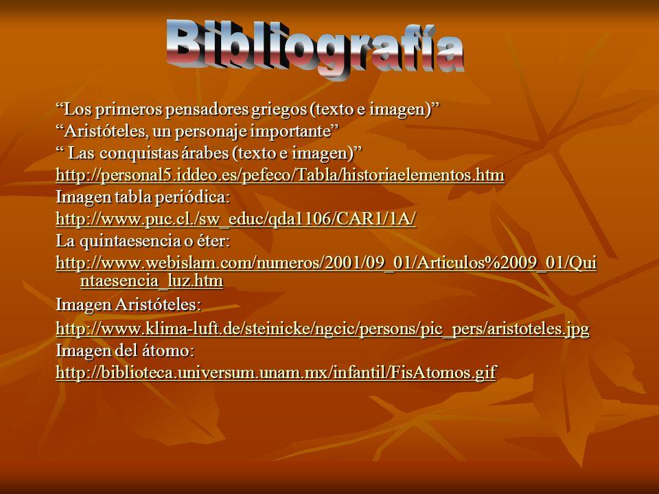 Bibliografía Los primeros pensadores griegos (texto e imagen)