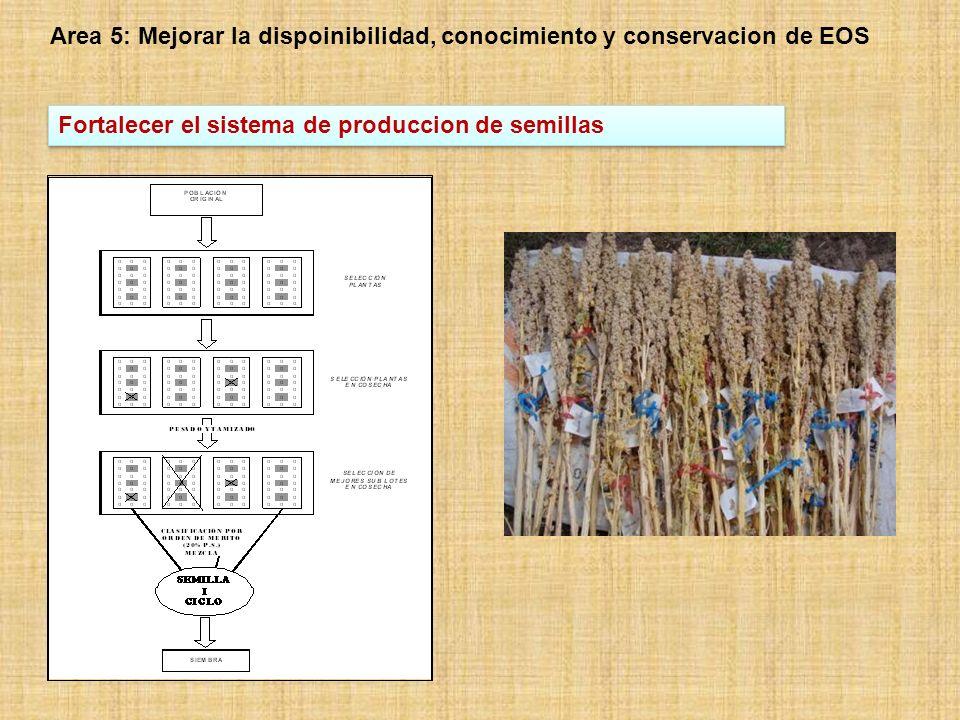 Area 5: Mejorar la dispoinibilidad, conocimiento y conservacion de EOS