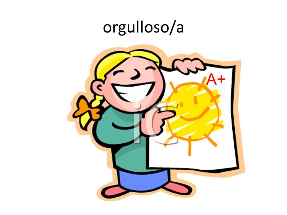 orgulloso/a A+