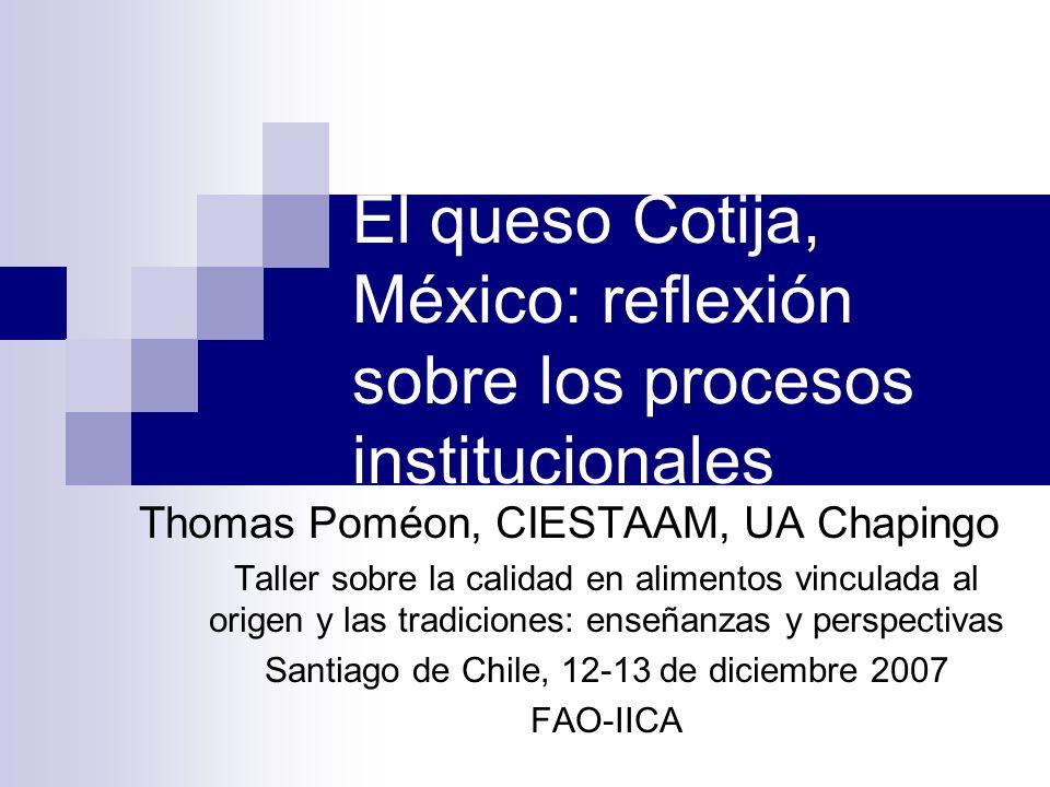 El queso Cotija, México: reflexión sobre los procesos institucionales