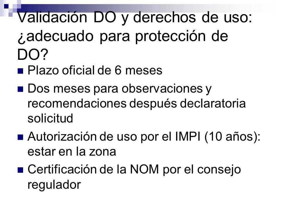 Validación DO y derechos de uso: ¿adecuado para protección de DO