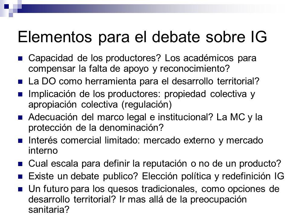 Elementos para el debate sobre IG