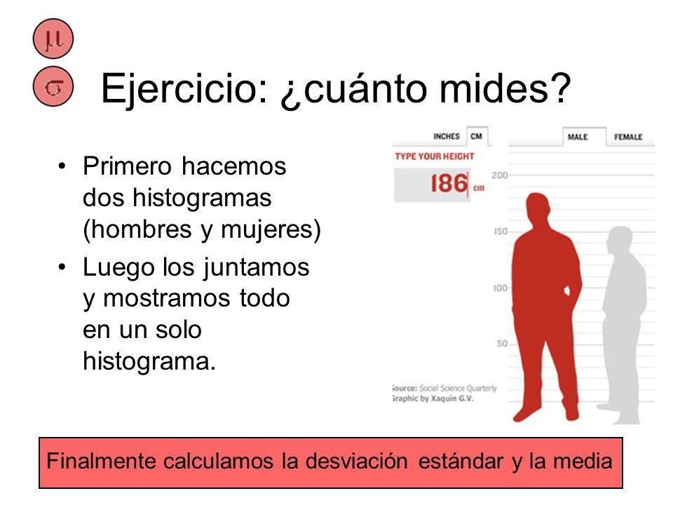 Ejercicio: ¿cuánto mides