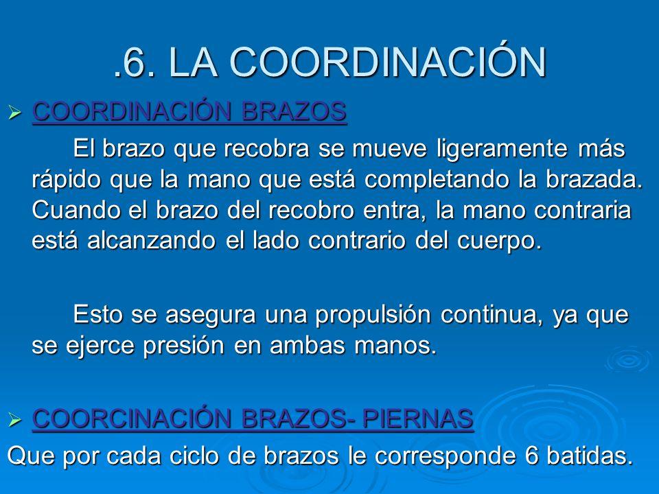 .6. LA COORDINACIÓN COORDINACIÓN BRAZOS