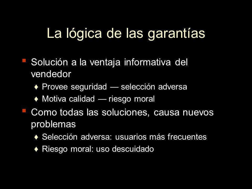 La lógica de las garantías