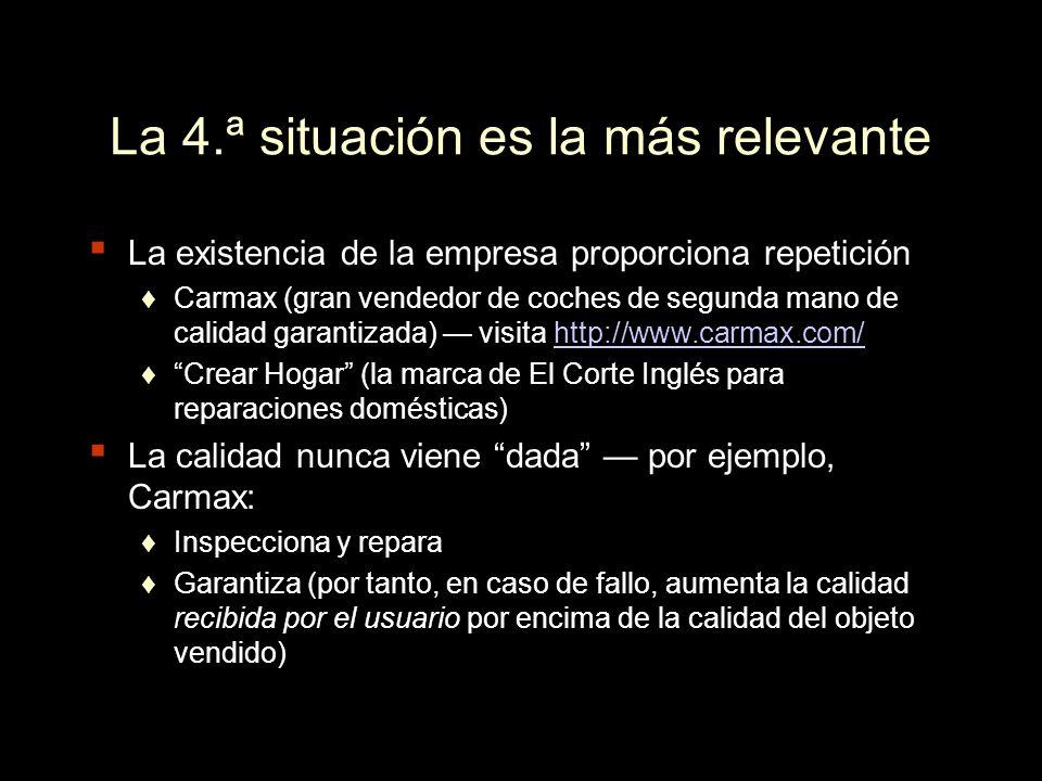 La 4.ª situación es la más relevante
