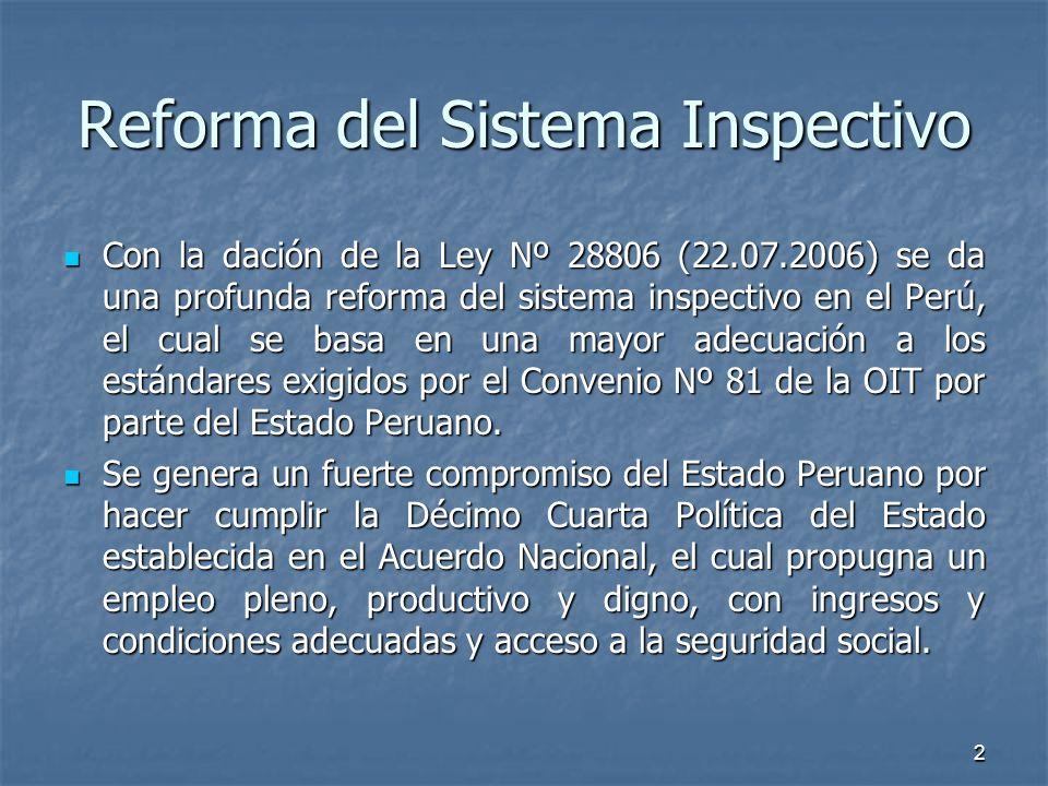 Reforma del Sistema Inspectivo