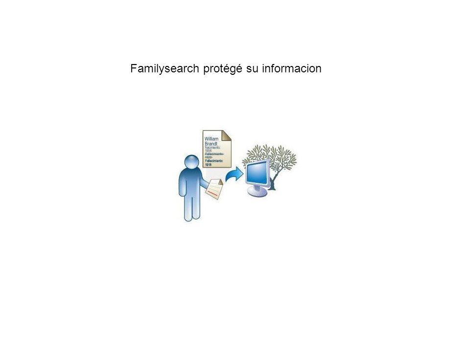 Familysearch protégé su informacion