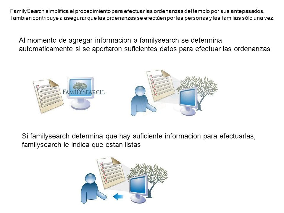 Al momento de agregar informacion a familysearch se determina
