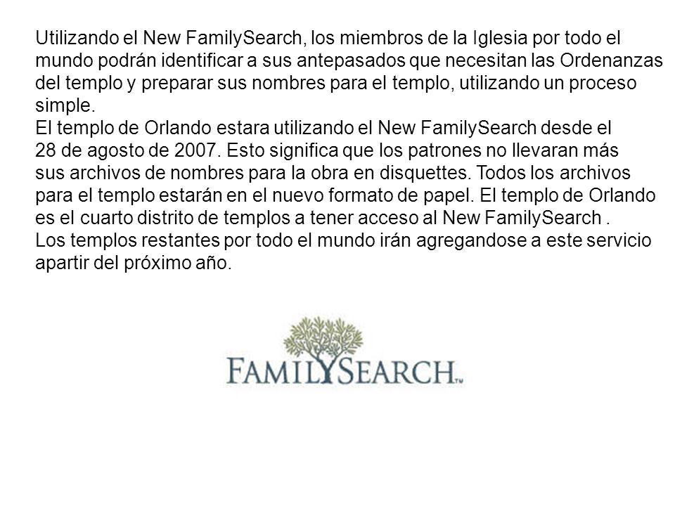 Utilizando el New FamilySearch, los miembros de la Iglesia por todo el
