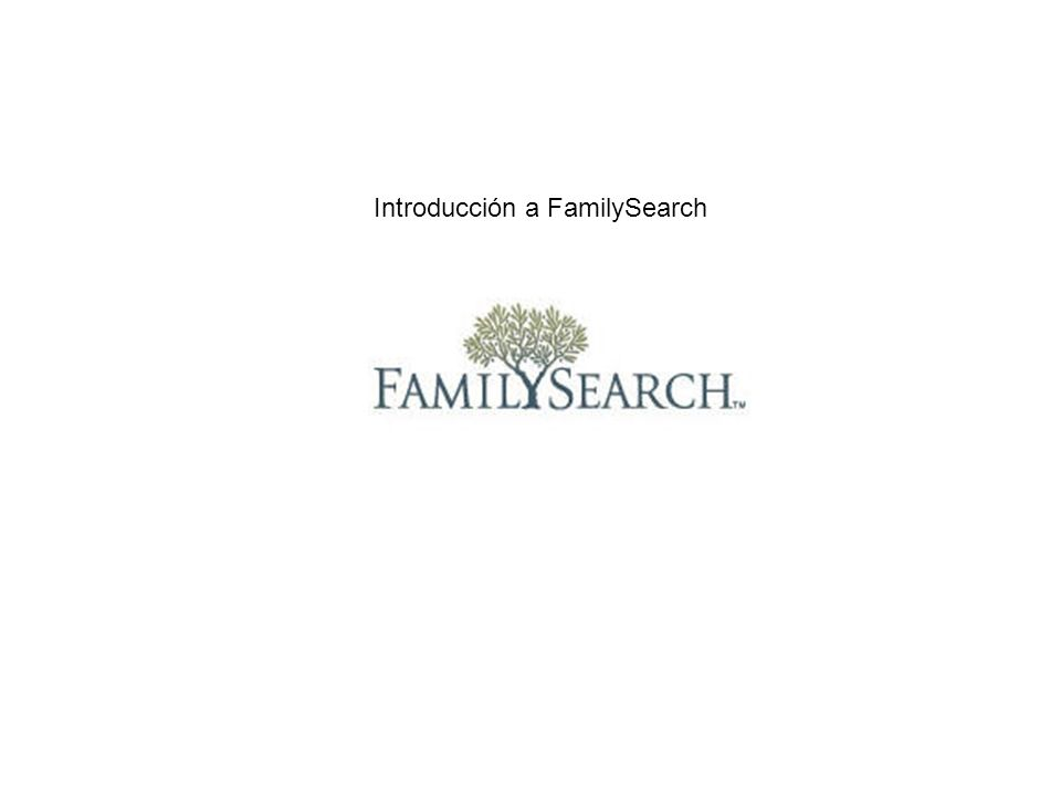 Introducción a FamilySearch