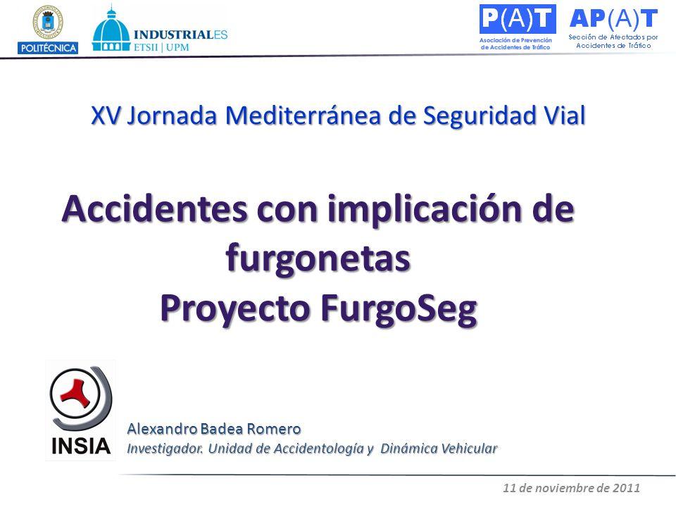 Accidentes con implicación de furgonetas Proyecto FurgoSeg