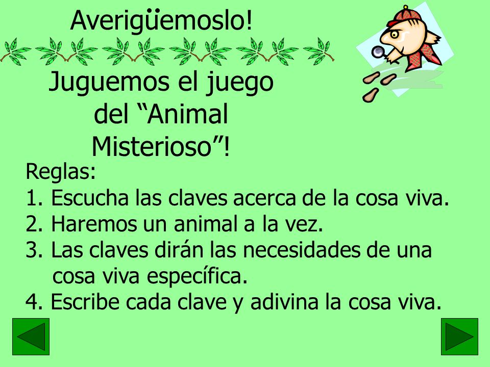 Juguemos el juego del Animal Misterioso !