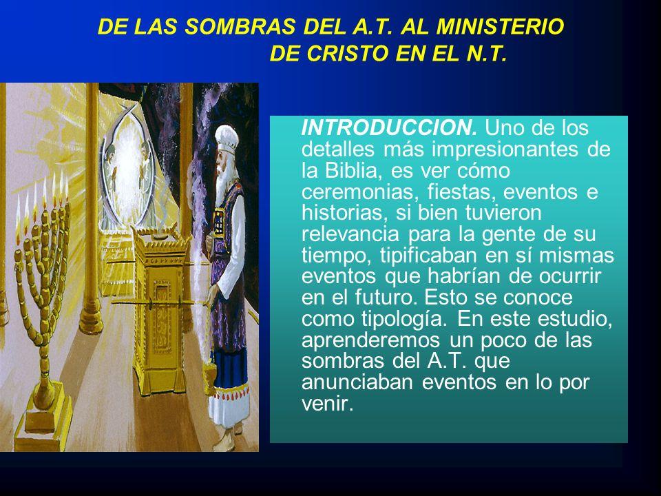 DE LAS SOMBRAS DEL A.T. AL MINISTERIO DE CRISTO EN EL N.T.