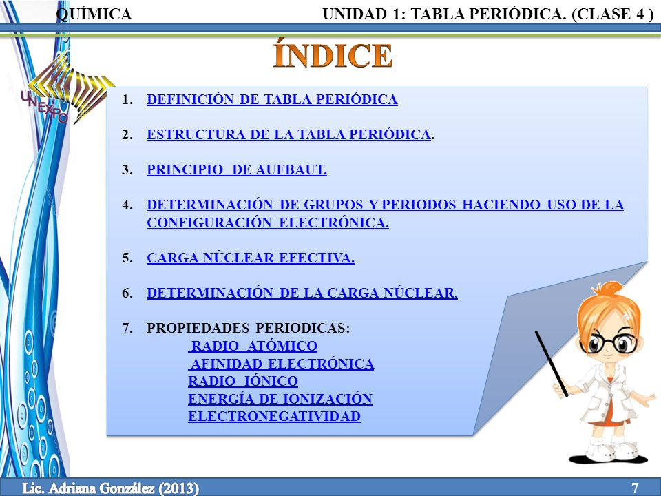 Clase 4 1 tabla peridica unidad elaborado por ppt video 7 lic urtaz Image collections