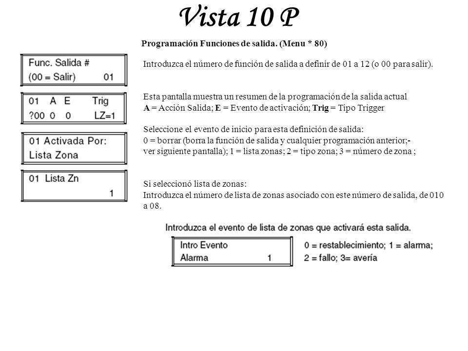 Vista 10 p seminario tecnico vista 10p ppt descargar for Funcion de salida