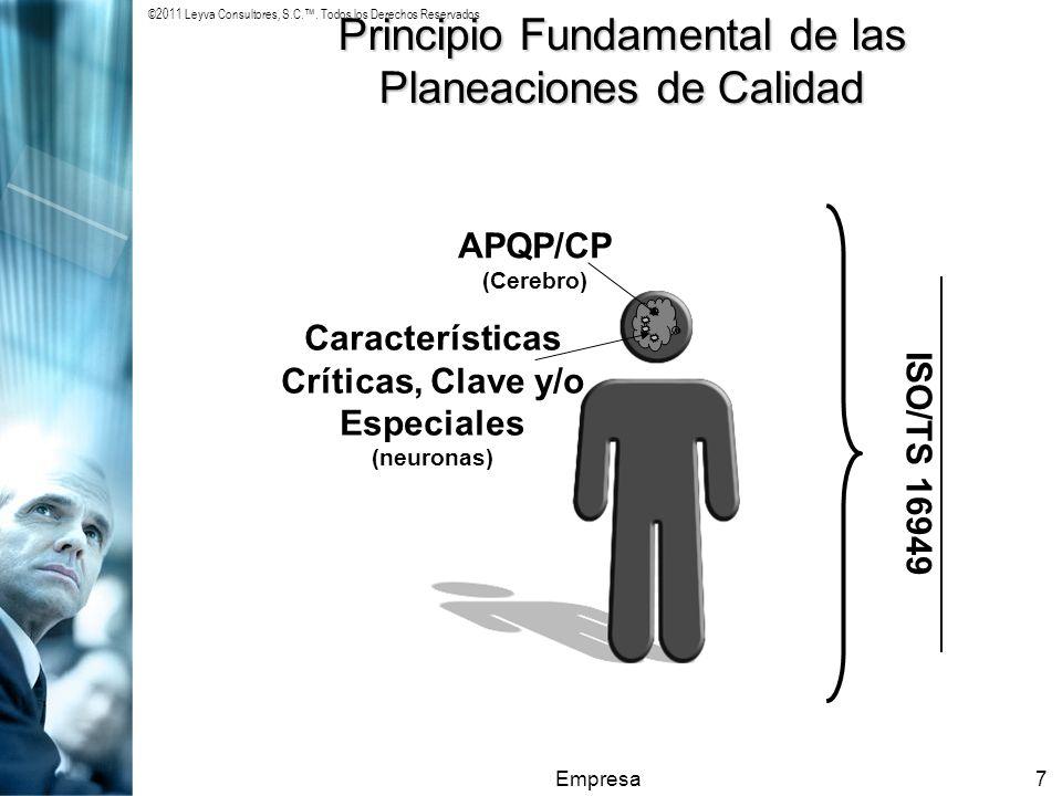 Características Críticas, Clave y/o Especiales