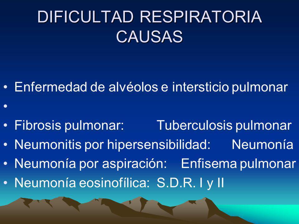 DIFICULTAD RESPIRATORIA CAUSAS