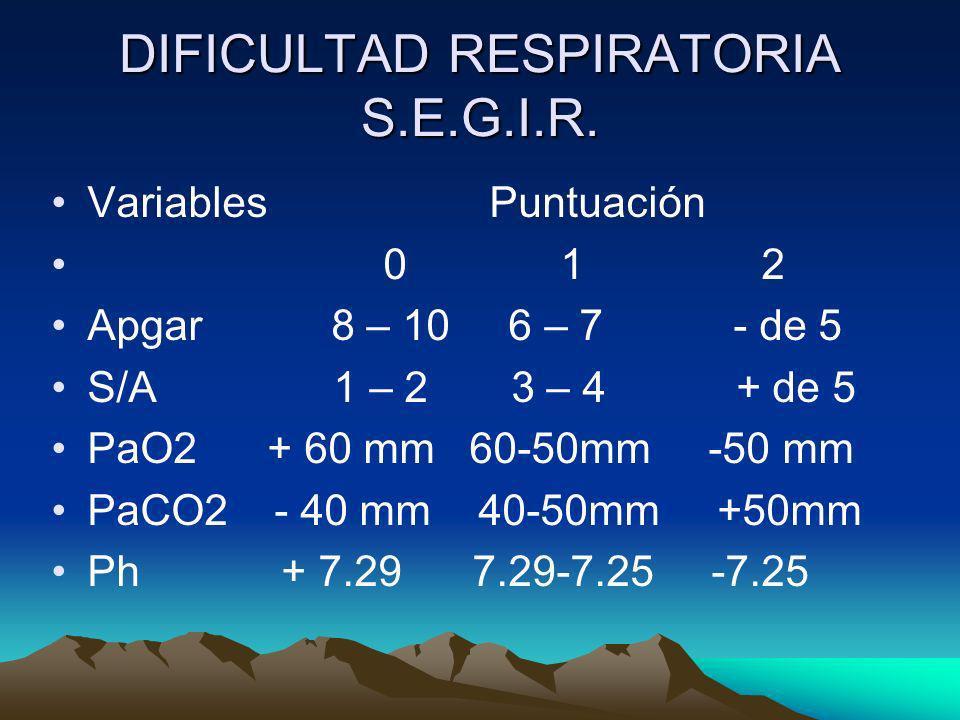 DIFICULTAD RESPIRATORIA S.E.G.I.R.