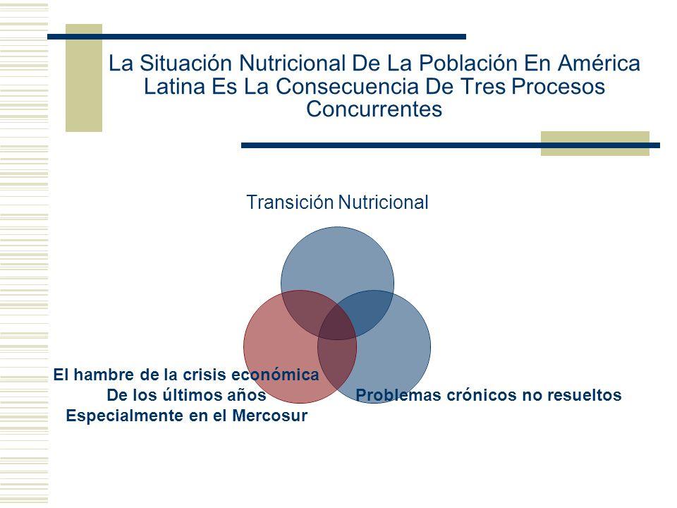 La Situación Nutricional De La Población En América Latina Es La Consecuencia De Tres Procesos Concurrentes