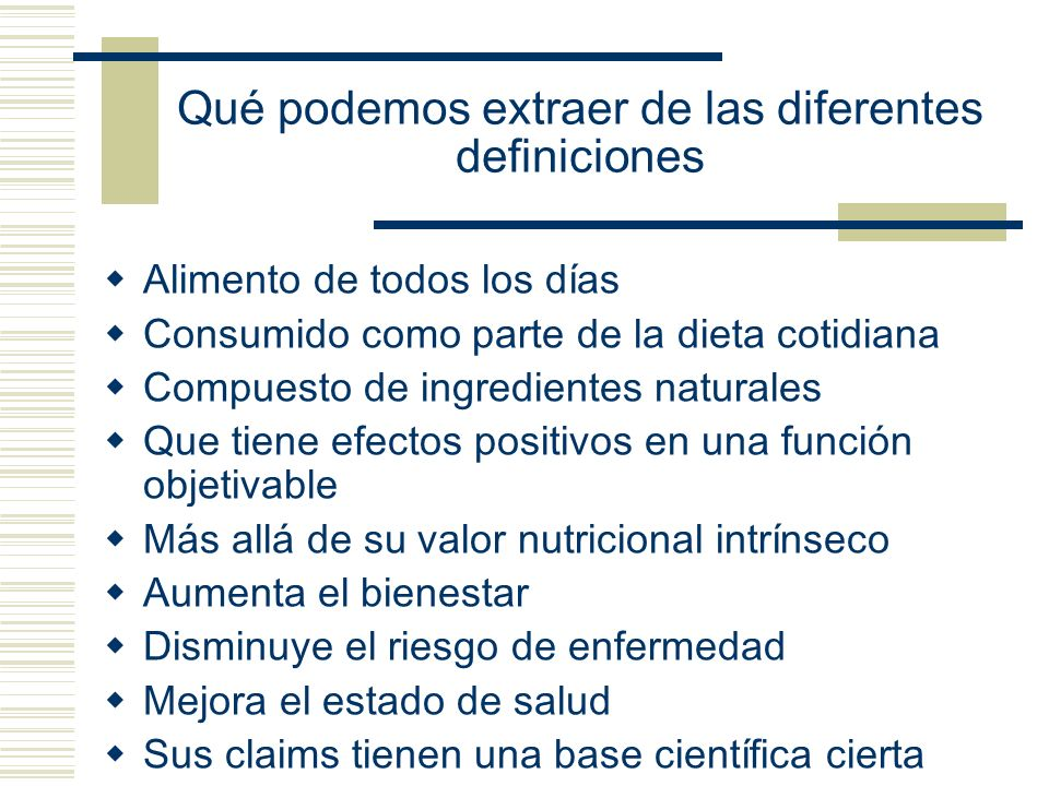 Qué podemos extraer de las diferentes definiciones