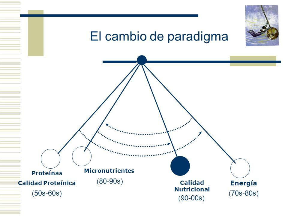 El cambio de paradigma (80-90s) (50s-60s) (70s-80s) (90-00s) Energía