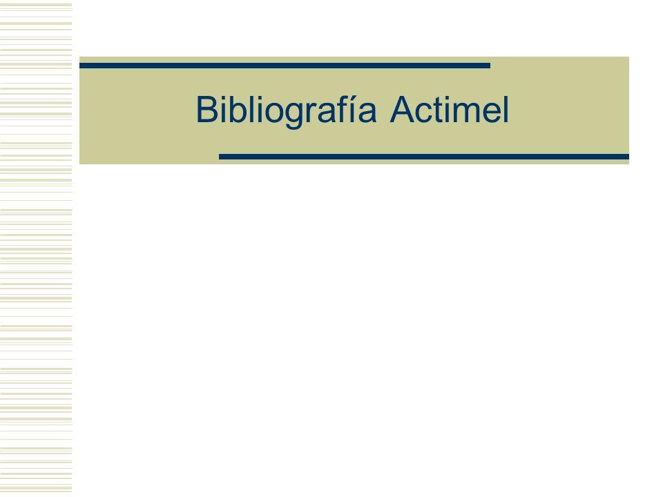 Bibliografía Actimel