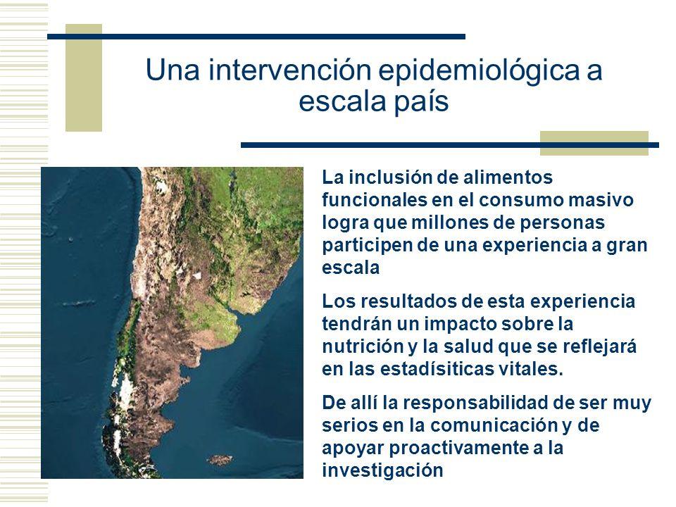 Una intervención epidemiológica a escala país