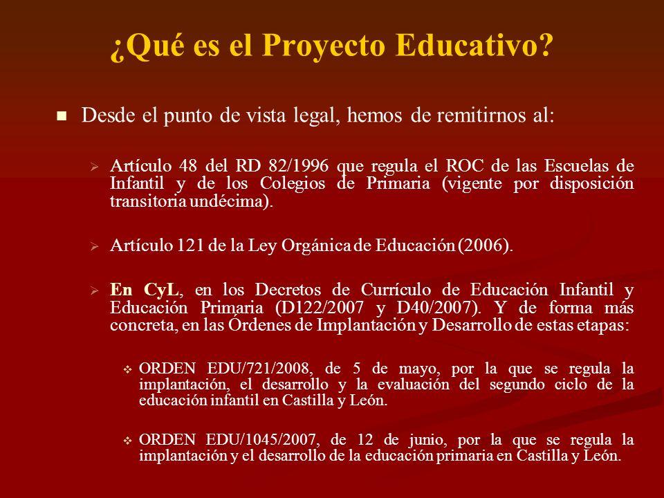 ¿Qué es el Proyecto Educativo