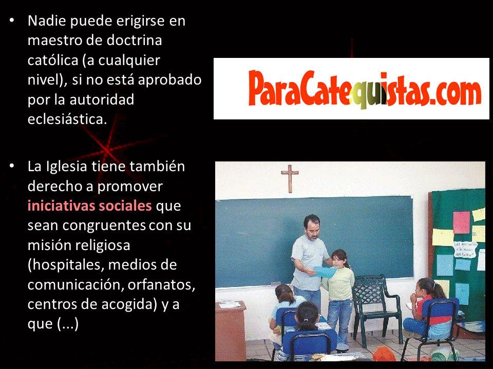Nadie puede erigirse en maestro de doctrina católica (a cualquier nivel), si no está aprobado por la autoridad eclesiástica.