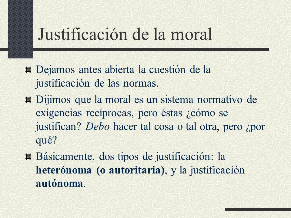 Justificación de la moral