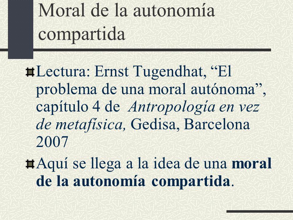 Moral de la autonomía compartida