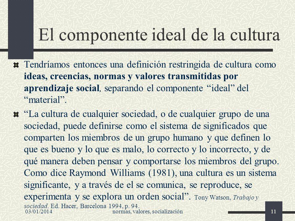 El componente ideal de la cultura