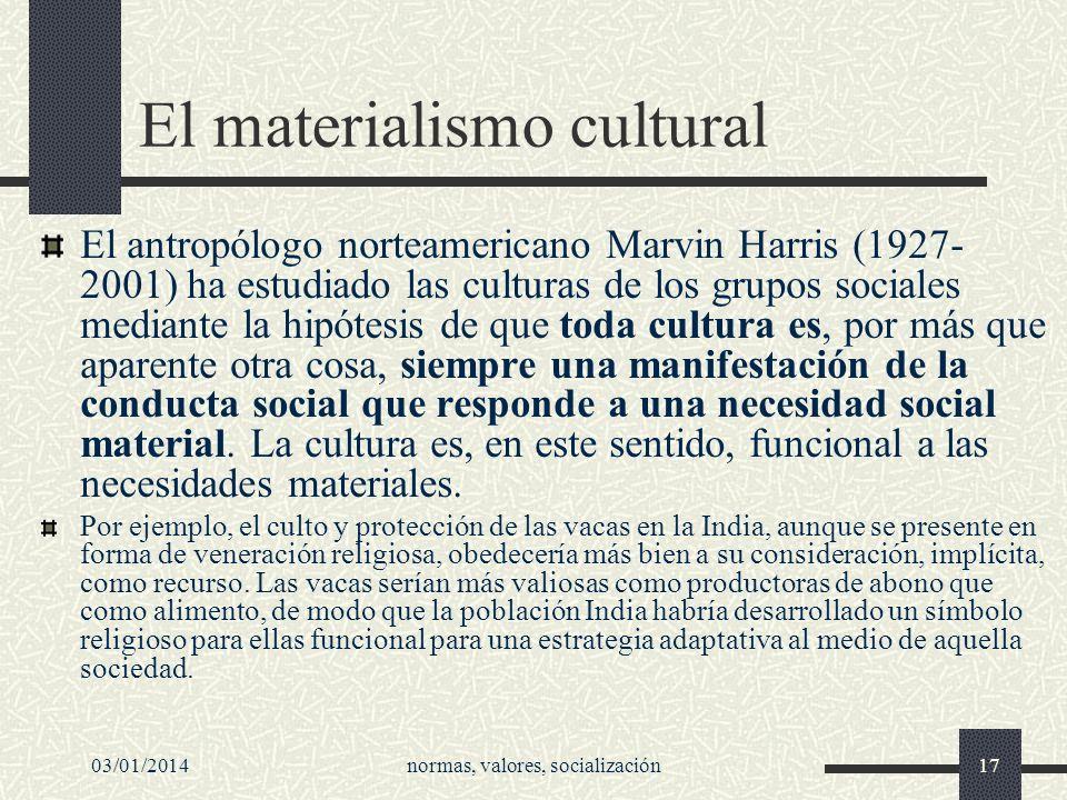 El materialismo cultural